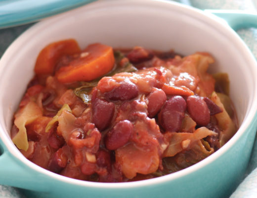 Portuguese bean and cabbage stew aka Vegan 'Feijoada à Transmontana'